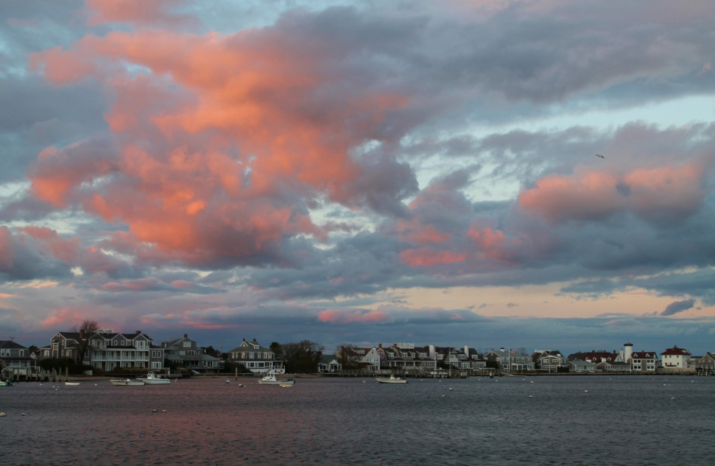 Sunset over Nantucket Harbor.