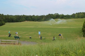 The driving range at Captains Golf Course is the perfect place to polish your shot.
