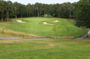 The 3rd hole on the Starboard Course at Captains Golf Course.