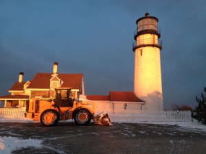Crews from Cape Cod National Seashore keep the Highland Light accessible all year long.