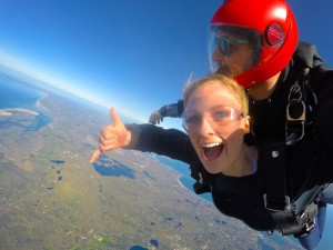 Flying high with Skydive the Mills. Photo via website.